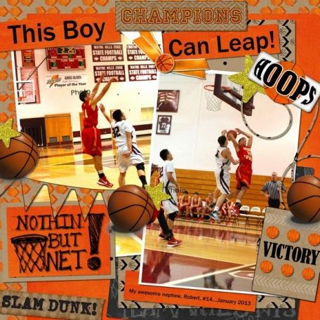 This Boy Can Leap! layout by Cindy McWilliams | Pixel Scrapper digital scrapbooking