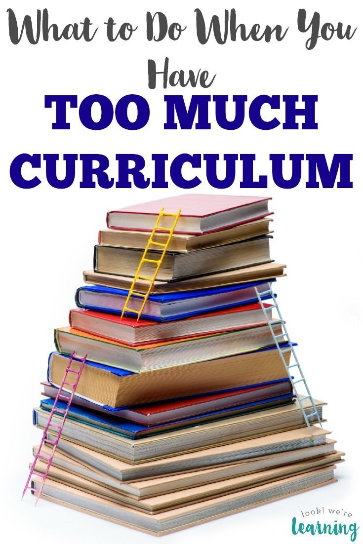 What To Do When You Have Too Much Homeschool Curriculum First