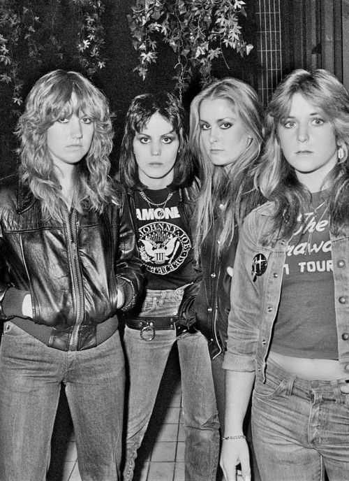 The Runaways - Joan Jett 2nd from left or 3rd from right ;)