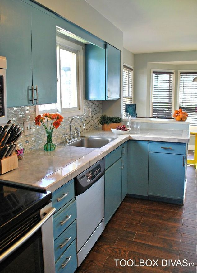 1000 ideas about painting tile countertops on pinterest. Black Bedroom Furniture Sets. Home Design Ideas
