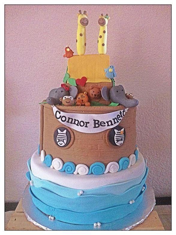 Para as mamães: bolo para Chá de Bebê ou festa infantil no tema Safari/bichinhos! Mais fotos e ideias em: http://mamaepratica.com.br/2014/02/07/25-exemplos-de-bolos-para-cha-de-bebe/