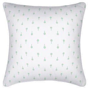 White & Mint Cushion Cover