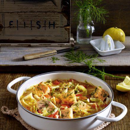 Weißkohl-Fisch-Eintopf Rezept | LECKER