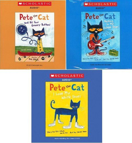 Pete the Cat Audio CD Pack : Includes 3 Audio CDs : Pete the Cat and His Four Groovy Buttons CD / Pete the Cat: I Love My White Shoes CD / Pete the Cat: Rocking in My School Shoes CD (Pete the Cat Audio CDs) -- To view further for this item, visit the image link.