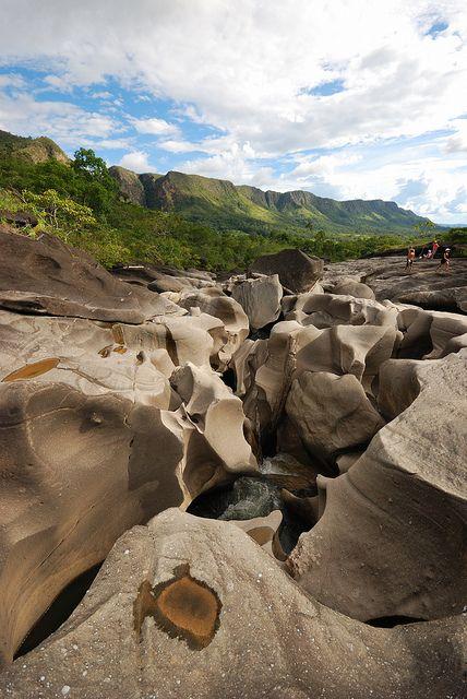Vale da Lua in Chapada dos Veadeiros National Park, Brazil (by andrepol_br).