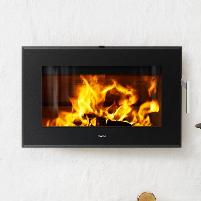 Morso S-80 Inset Contemporary Woodburning Stove    Width892mm  Height564mm  Depth532mm