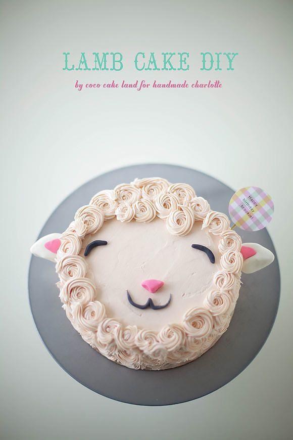 DIY Fluffy Lamb Cake by Coco Cake Land