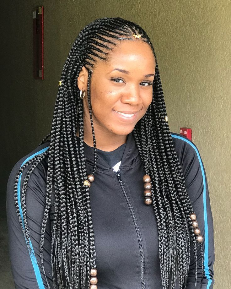 24 Populer Plain Braided Hairstyle Exemple 20 Latest Braids Hairstyles 2019 Box Braids L Braided Hairstyles Hair Styles African Braids Hairstyles