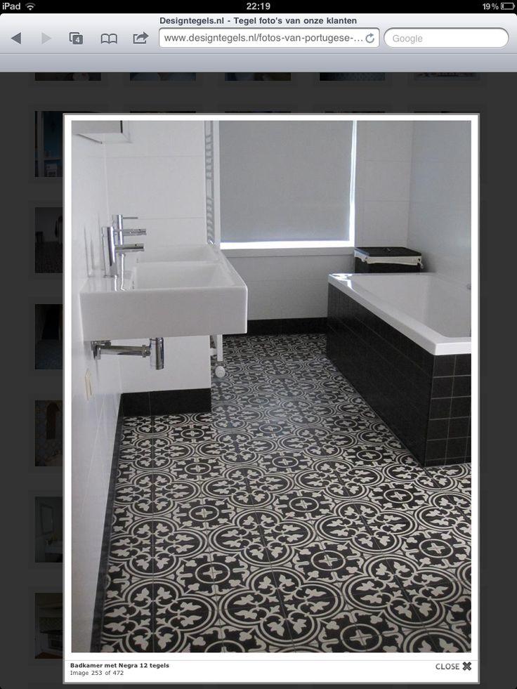 Badkamer met portugeese tegels