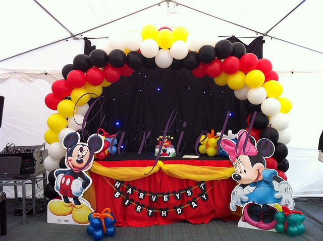 Mickey Mouse Party Balloon Arch by Garfield's Balloons Weddings Tamworth, via Flickr