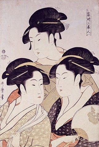 기타가와 우타마로, [당시삼미인(當時三美人)], 오반니시키에, 1793년경, 미국 오하이오, 톨레도 미술관
