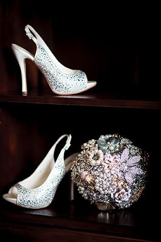 An extravagantly detailed sparkling glam blush wedding in Alberta // photo by Crown Photography: http://www.crownphotography.ca || see more on http://www.artfullywed.com