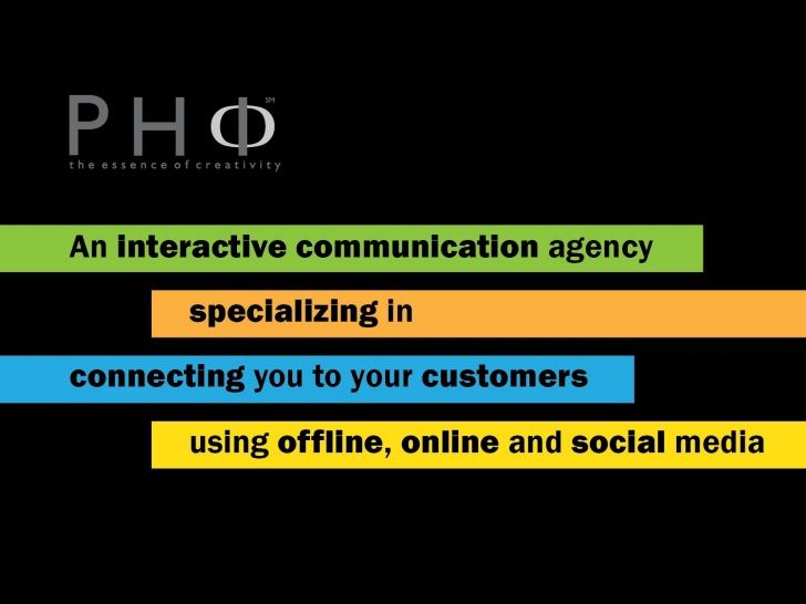 If you are thinking of to grow your business lets contact Phi Agency. We live in a world that offers multiple resources to help us live our dreams.  Obviously, it has to be driven by passion, commitment, faith, hard work and damn good ideas! Beyond that, there has to be a well-crafted strategy - a design; for it to not just grow...but grow right and succeed.http://phi.agency/