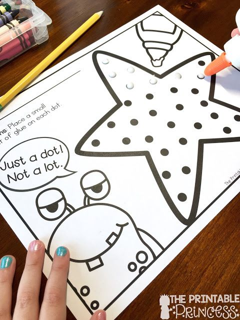 Grab this awesome NO PREP FREEBIE pack. An introduction to glue! My kids LOVE this monster theme.