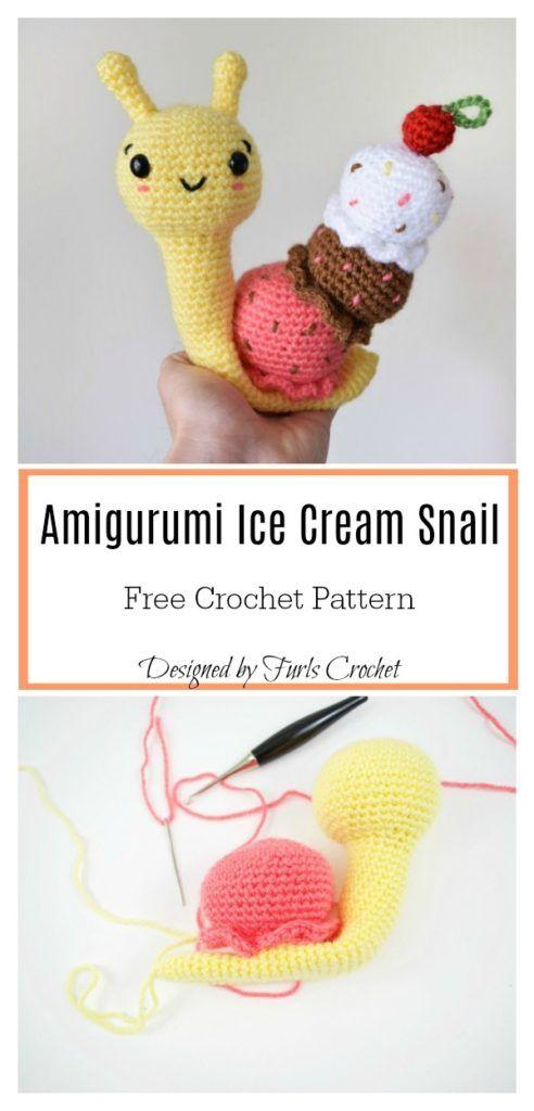 Crochet Amigurumi Snail Patterns | Crochet crazy | Pinterest | Oveja