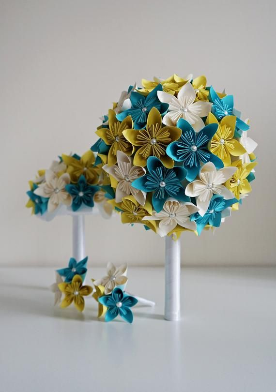 Set Of Big Bridal Bouquet Small Moh Bouquet And 2 Boutonnieres