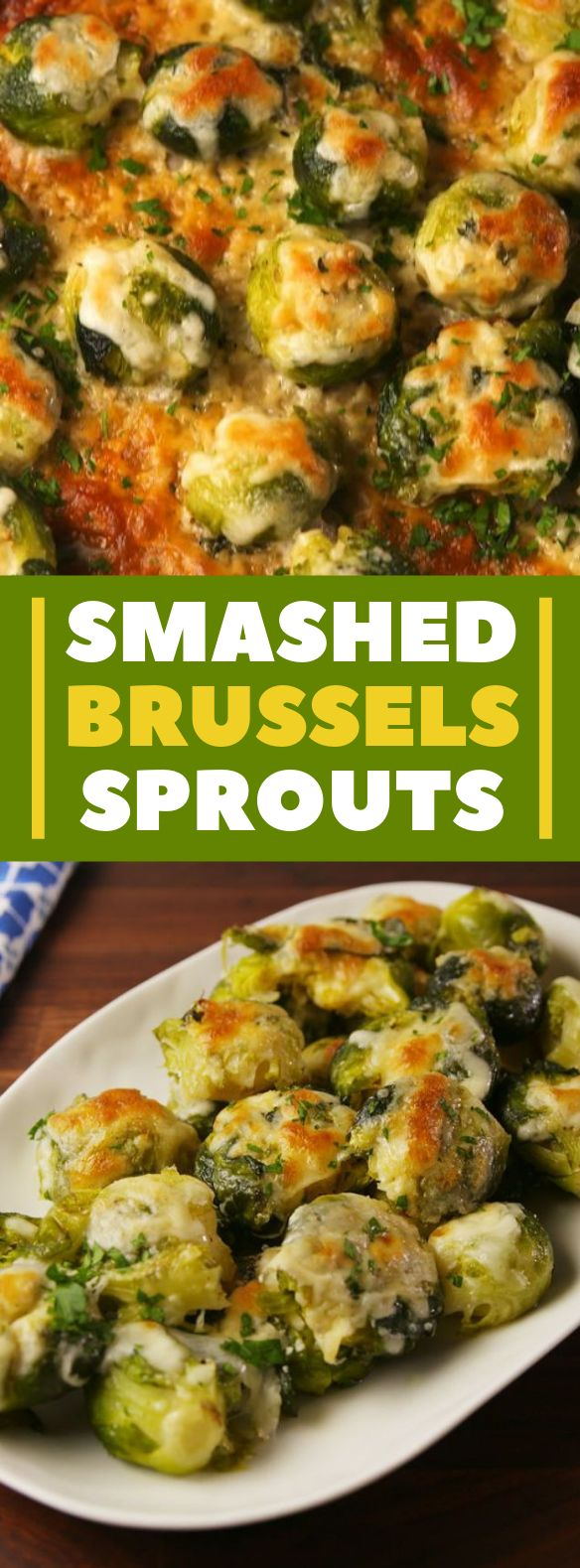 Smashed Brussels Sprouts #veggies #vegetables