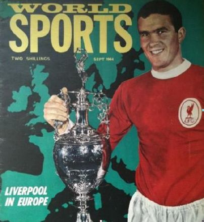 World Sports magazine in Sept 1964 featuring Liverpool captain Ron Yeats on the cover.