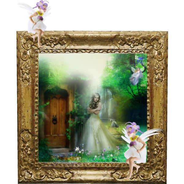 Lost in the forest by lolalu87 on Polyvore featuring polyvore and art