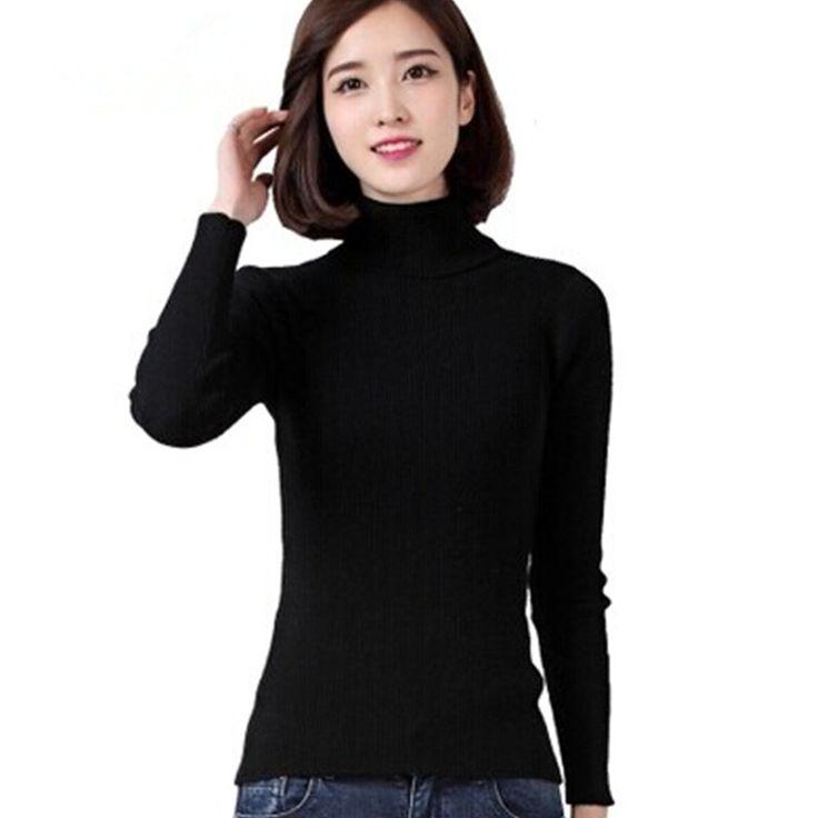 Cashmere-Sweater-Woolen-Women-Basic-Shirt-