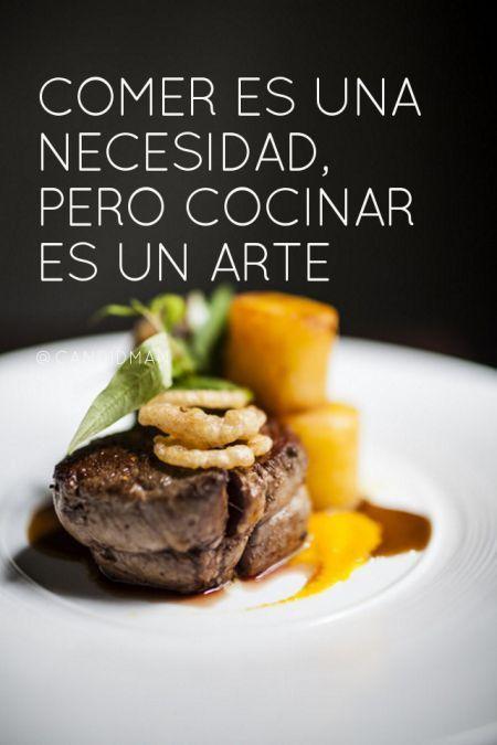 Comer es una necesidad pero cocinar es un arte.  #ceacchef #escueladegastronomia CEAC Tuxtla