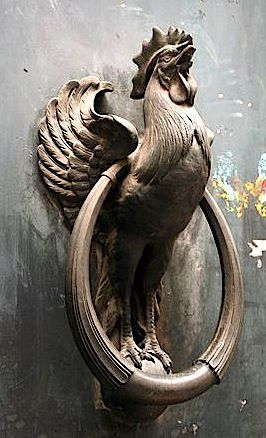 French Rooster Door Knocker