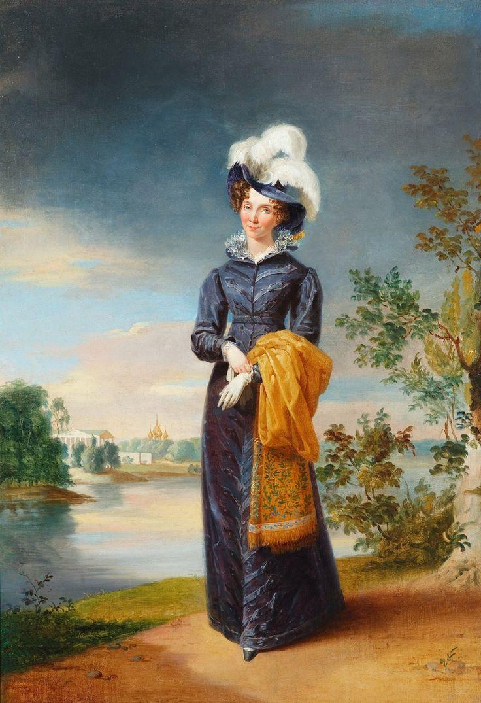 Портрет императрицы Елизаветы Алексеевны. Около 1826 г. Джордж Доу. Холст, масло. 86,0 х 59,5.