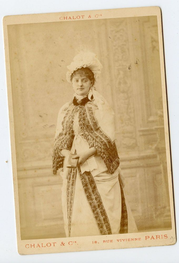 Vintage Cabinet Card Madame Nagnier Actress Singer Gymnase Theatre Chalot Photo