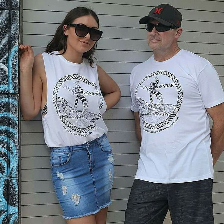 "Womens ""Captain Oh Yeah "" tanks and tee's for Surfer Girls.🌊  Quality threads, pre-shrunk with cool internal printed tag for comfort and style.  Drawn to good vibes.  Drawn Downunder.  Visit www.drawndownunder.com"