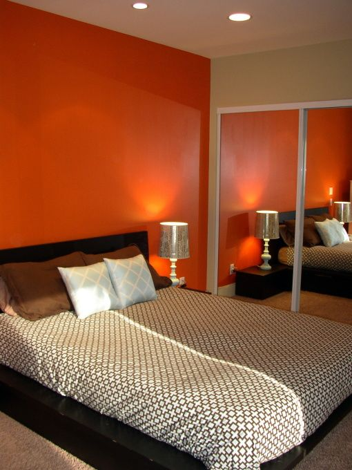 61 Best Images About Orange Bedroom On Pinterest Black White Bedrooms Bedroom Ideas And