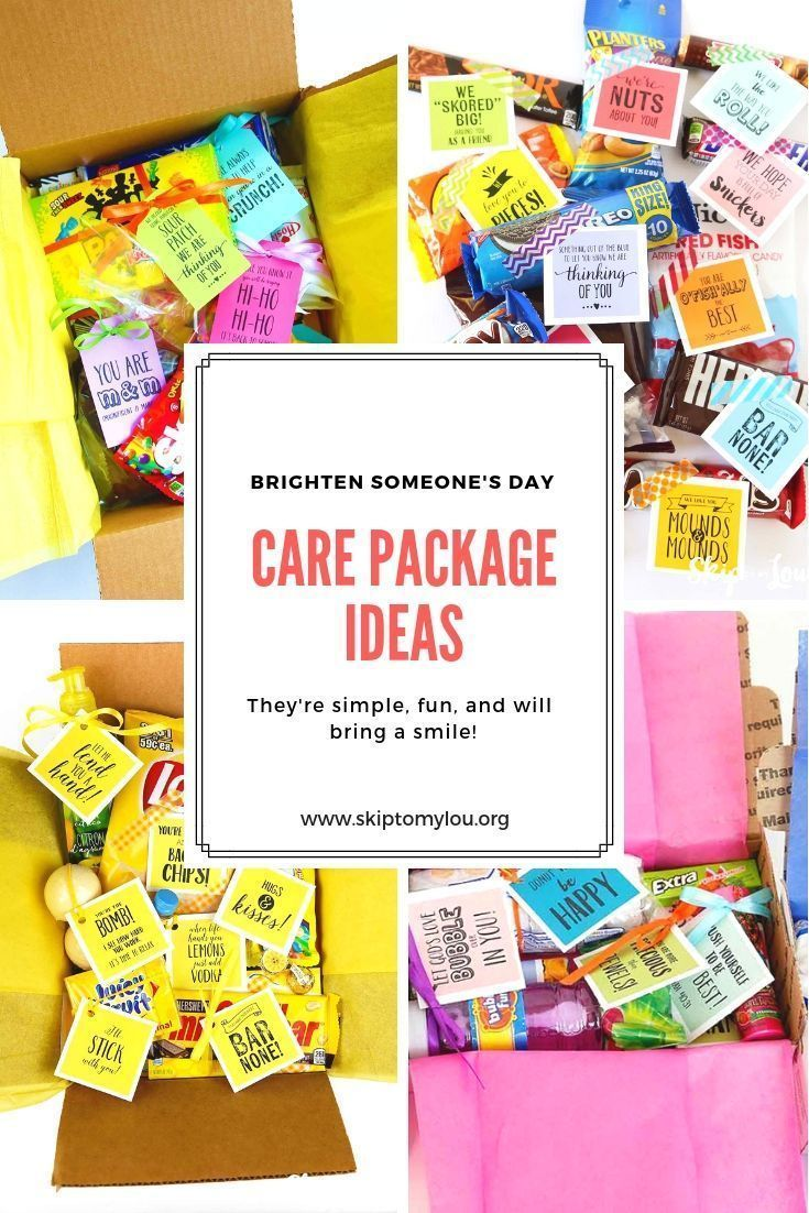 Care package ideas and printable tags and notes have a