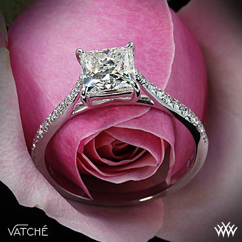 Vatche Aurora Diamond Engagement Ring with 1.003ct A CUT ABOVE Princess @juliaalderfer3 OMG!