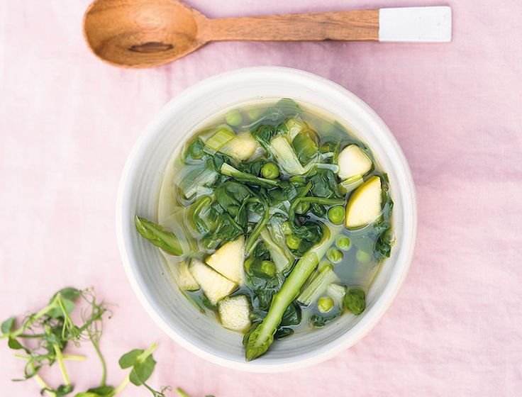 this nutrient dense vegetable broth is a beautiful way to start the day
