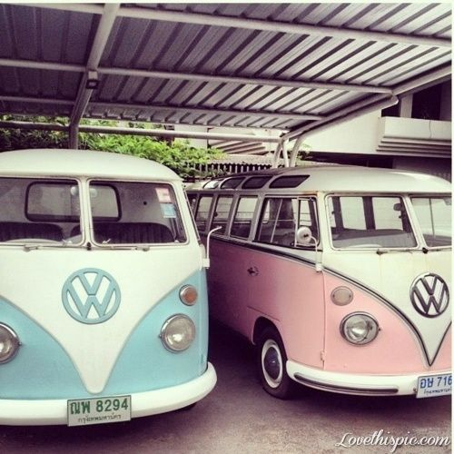 Pink and Blue Volkswagon photography vintage car hipster hippie hippy volkswagon automobile