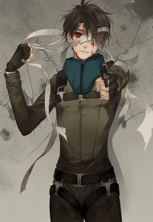 Anime Characters One Eye : Tags anime pixiv id aldnoah zero kaizuka inaho