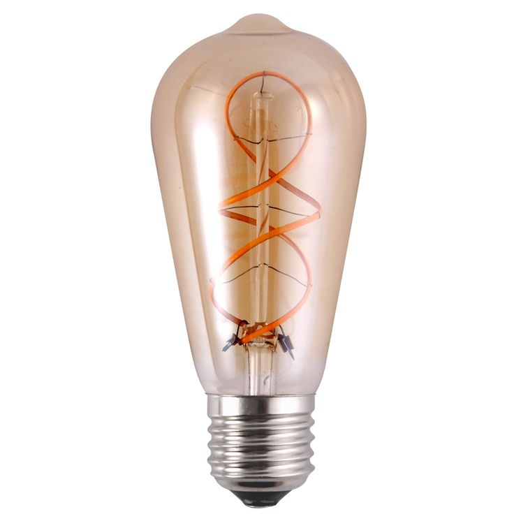 Spiral Soft LED Filament Bulb features an elegant vintage bulb design but packing cutting-edge LED Technology. The result is a modern light bulb that brings back the nostalgia of the early incandescent lamps of the Gilded Age. Best for decorative hanging lamps and fixtures where the bulb can be seen to advantage, this bulb adds an old time charm to any room coupled with unparalleled energy efficiency and safety (no harmful substances like mercury). With the newsoft filament LED it is now…