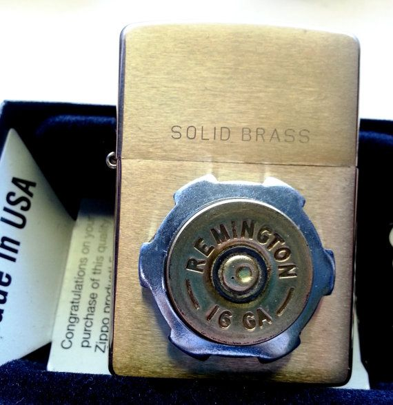Custom ZIPPO Lighters With Shotgun Shell #TriggerHappyAccents