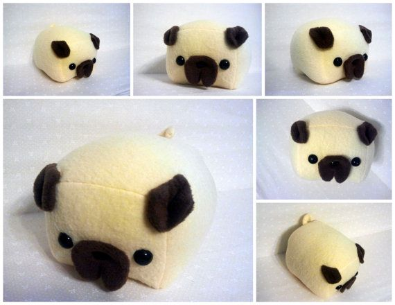 Pug Loaf Medium by Cornstarch on Etsy, $25.00