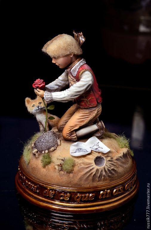 Купить Маленький принц - маленький принц, миниатюра, сказка, экзюпери, лисенок, искусство, скульптура, эпоксидка