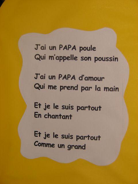 Préférence Les 28 meilleures images du tableau poésie fête des parents sur  VS49