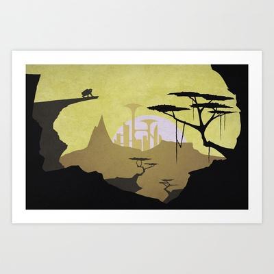 Abandoned city (day) Art Print by Tomas Jordan - $13.00