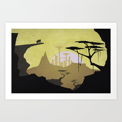 Abandoned city (day) Art Print by Tomas Jordan - $13.00