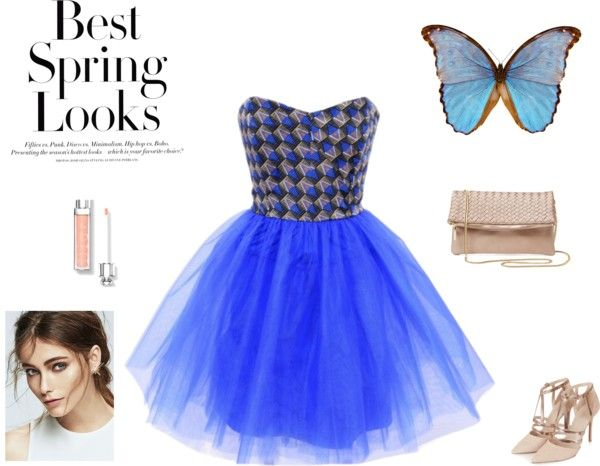 It's party time! by natalia-augustyniak on Polyvore featuring moda, Topshop, Deux Lux and H&M