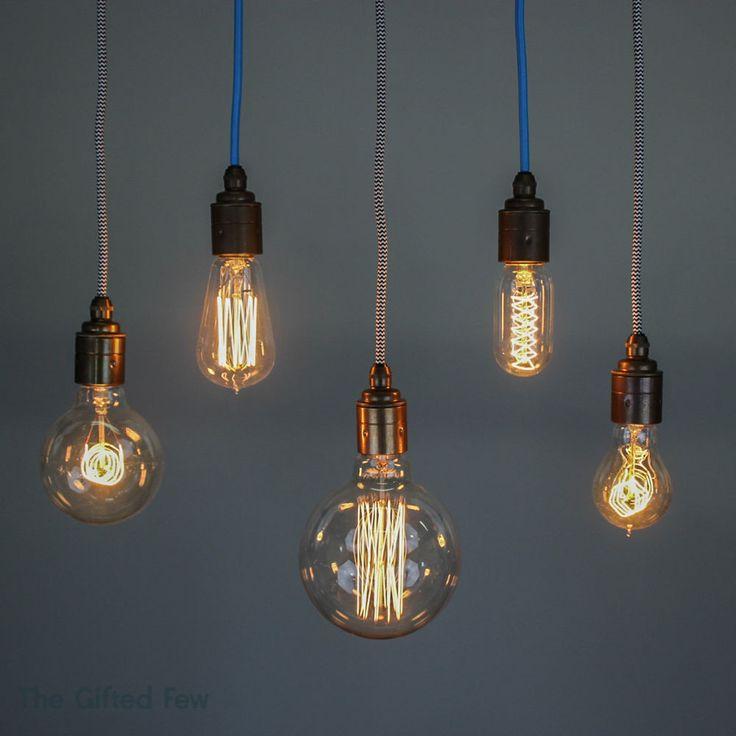 filament light bulb edison vintage squirrel cage decorative antique industrial - Decorative Light Bulbs