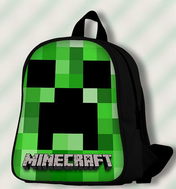 Minecraft Creeper  Custom SchoolBags/Backpack by SmileSchoolBags