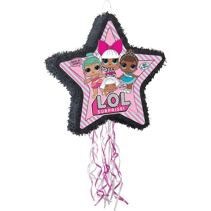 Fill our lol surprise shaped pull pinata full of small
