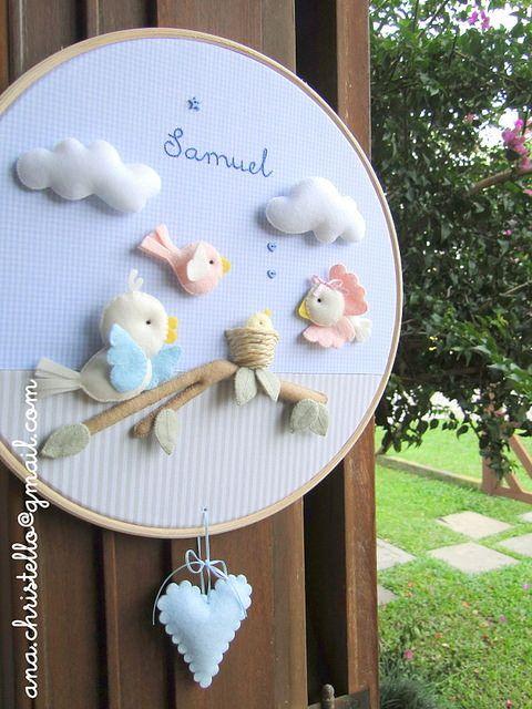 Porta de maternidade/bastidor passarinhos   Flickr - Photo Sharing!