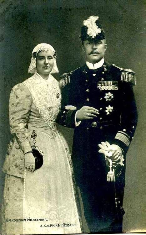 Queen Wilhelmina and Prince Consort Hendrik of the Netherlands.