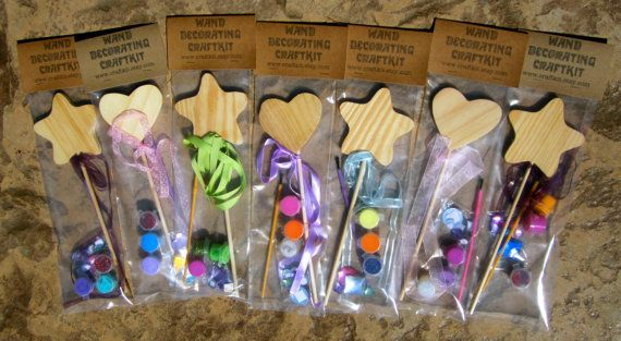 Wand craft kit fairy wand decorating kit fairy wands for Princess wand craft kit