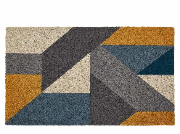 Holden Fußmatte (45 x 75 cm), Blau und Gelb